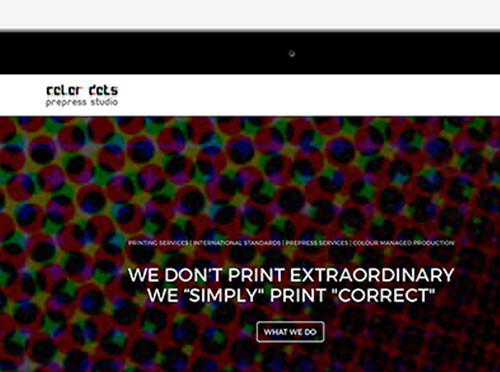 Color Dots Web Design